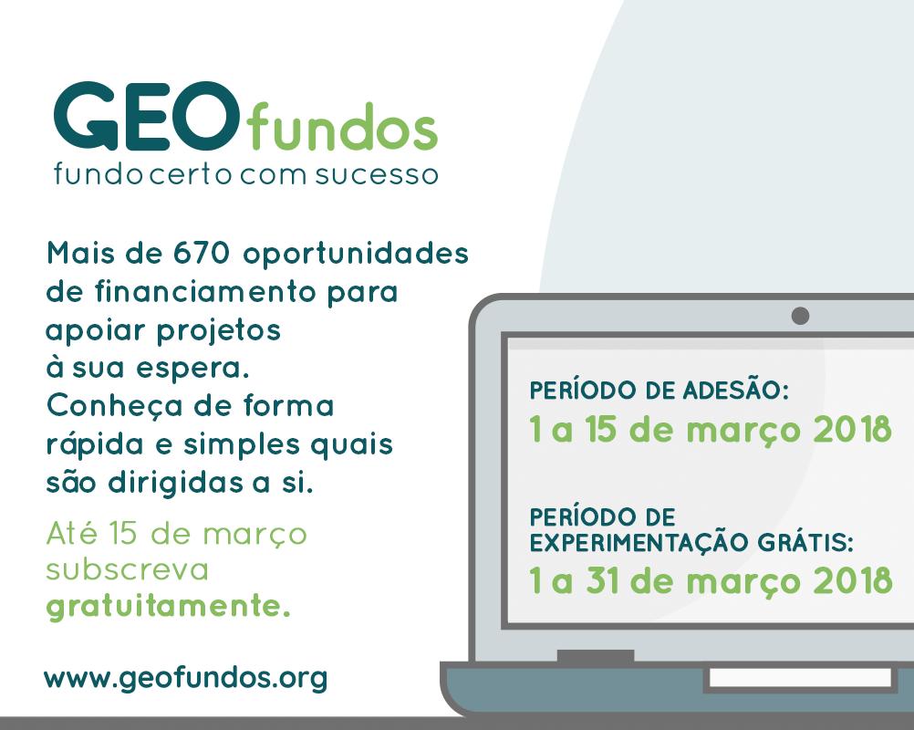 Acesso gratuito a oportunidades de financiamento através de campanha da GEOfundos